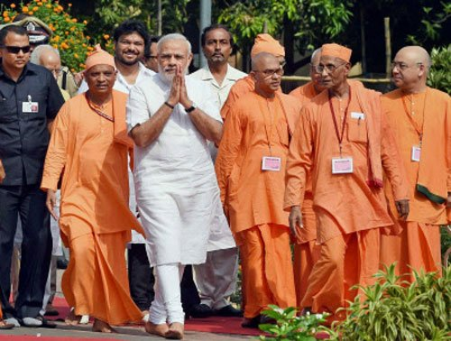 Modi's spiritual break, bonds with monks as 'ghar ka ladka'