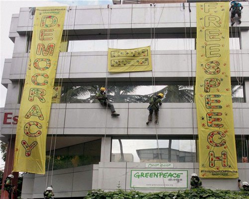 India may become the first country to shut down Greenpeace