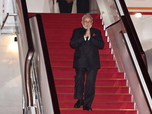 PM arrives in Mongolia on historic visit