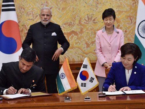 S Korea pledges USD 10 bn for infra development in India
