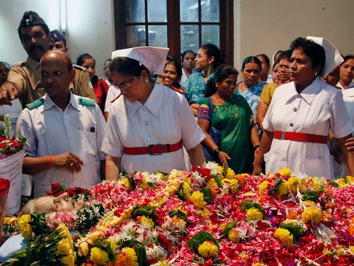 Nurses bid a teary adieu to Aruna