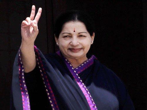 Jaya makes public appearance, to take oath as CM tomorrow
