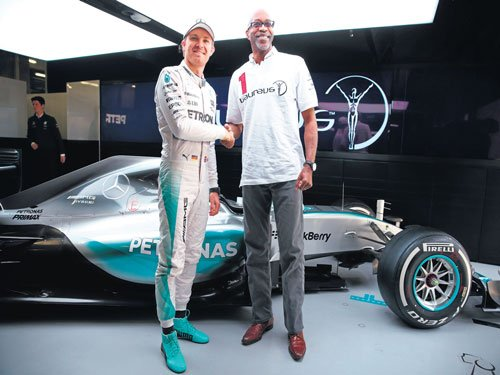 Hurdler and a racing fan