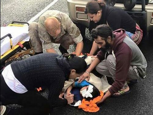 Sikh man rewarded for cradling injured boy's head with turban