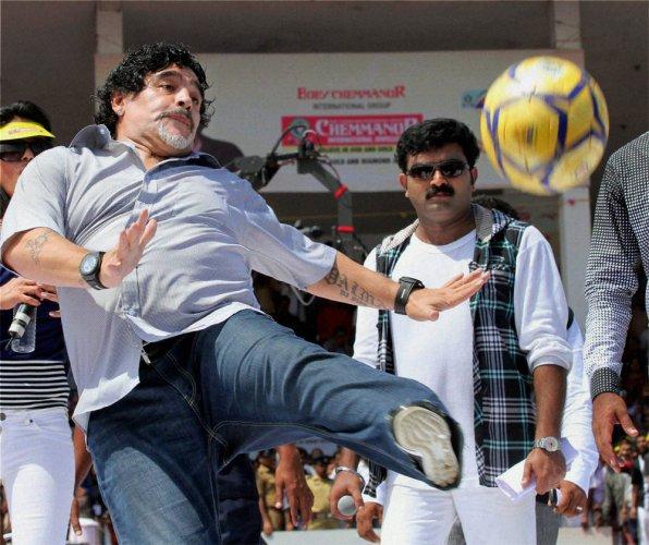 Maradona cheers FIFA arrests, warns Blatter next