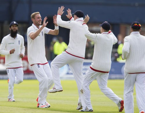 Broad revives England after Southee treble