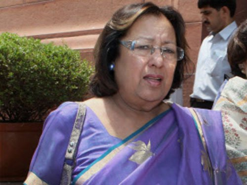 Cong govt talked only about sentiment of minorities: Heptulla