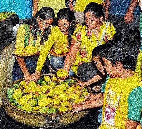 Inside a mango grove