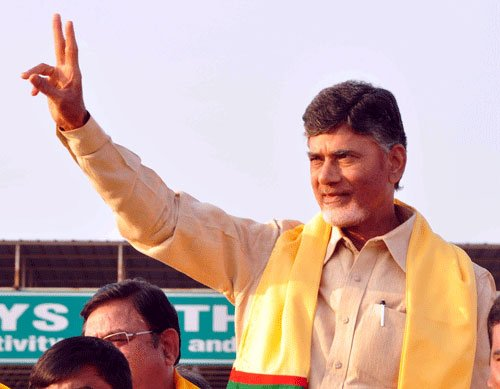 Naidu performs 'bhoomi puja' for Andhra capital