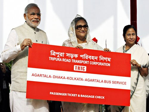 Kolkata-Agartala bus reaches Tripura from Dhaka