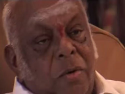 M A M Ramaswamy disowns adopted son