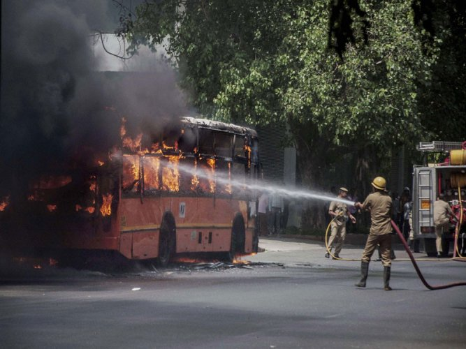 16 bus passengers electrocuted in Rajasthan