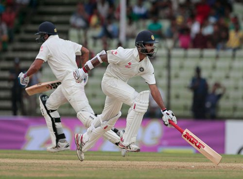 Indian spinners make inroads after overnight declaration