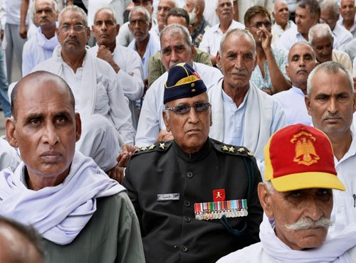 OROP: Ex-servicemen hold nationwide protests