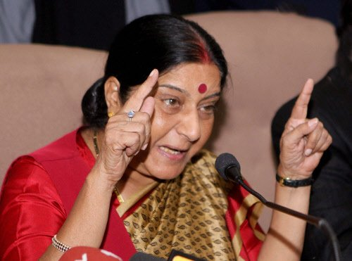 Swaraj hits back at journo who raked up propriety issue