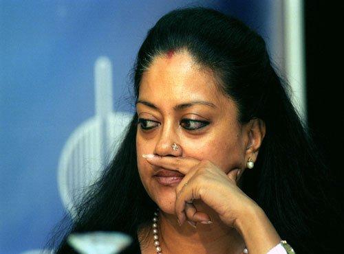 Raje should quit along with Swaraj: Cong