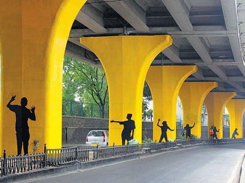 Pillars of urban art