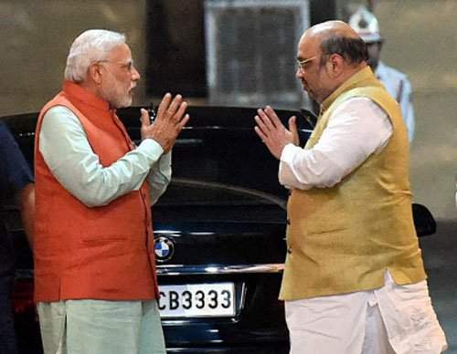 PM, Shah discuss damage control, Raje cancels Punjab visit
