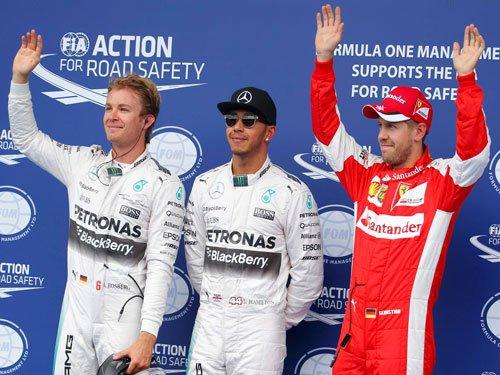 Hamilton powers to pole in Austria