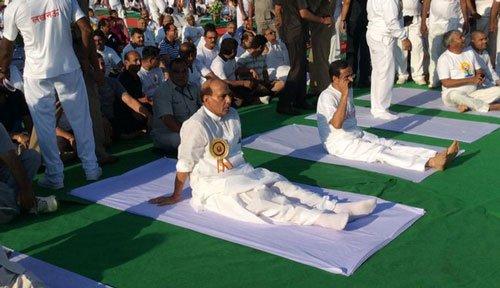 Yoga India's biggest gift to the world: Rajnath Singh