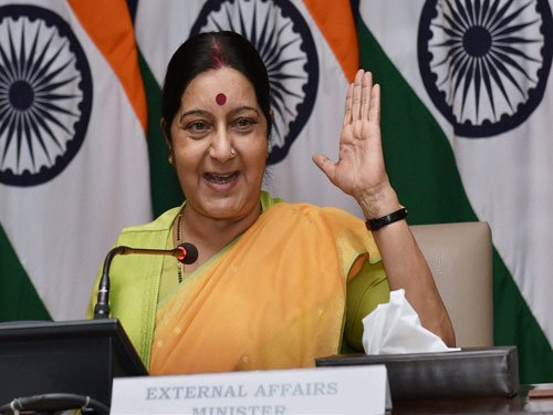 Yoga not religious; an antidote to violence, conflict: Swaraj