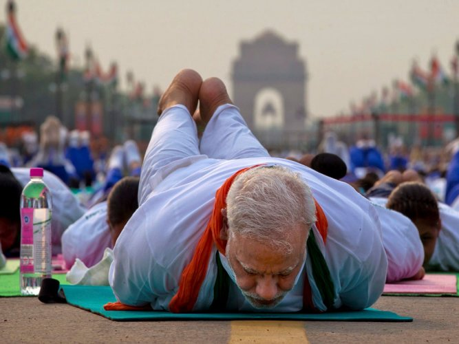 PM surprises with yoga performance