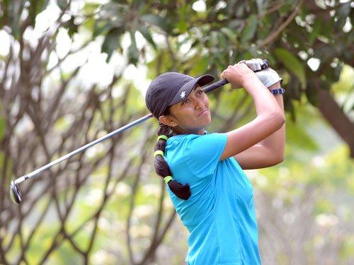 Aditi remains on pole despite a 73