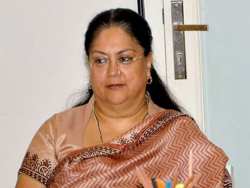Raje rubbishes reports that she had been asked to resign