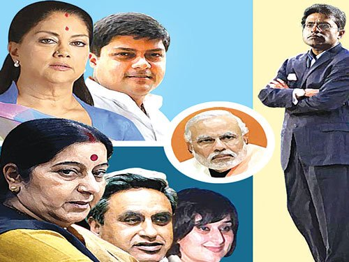 Running into anybody not a crime: Cong on Lalit Modi tweets