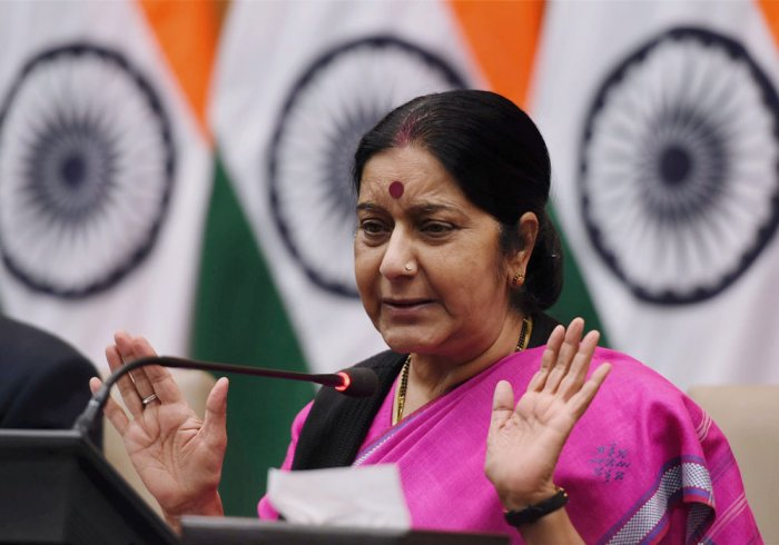 Swaraj arrives in Thailand for World Sanskrit Conference