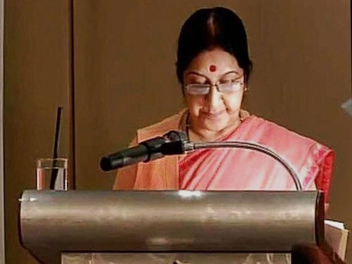 Sanskrit should be propagated to purify minds of people:Swaraj