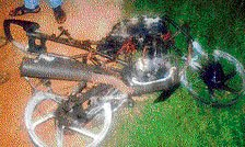 2 charred to death as bikes collide head-on