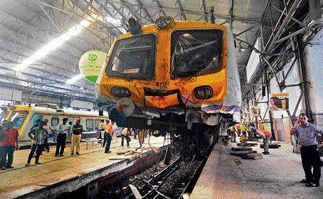 Local train crashes into dead-end in Churchgate