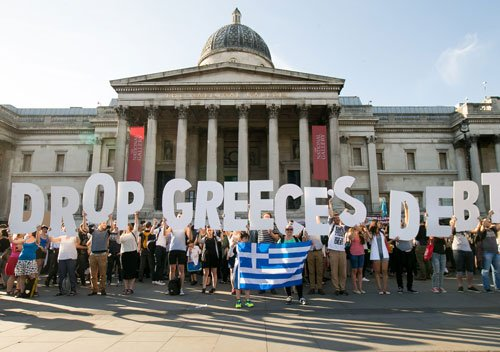 Anti-austerity protests in Greece as bank shutdown bites