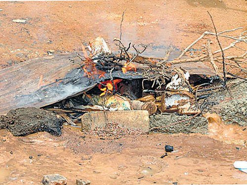 Fire at landfill sparks anxiety in Lakshmipura