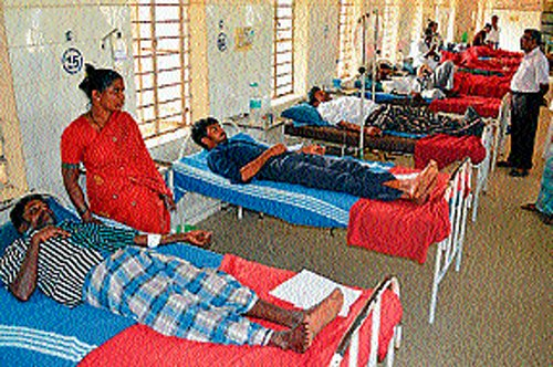Patients' kin hold stir at ESIC hospital