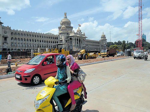 Road in front of Soudha reopens