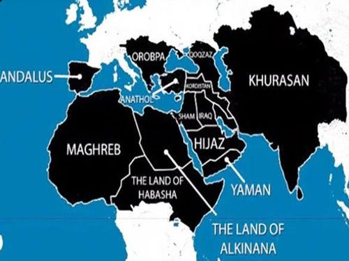 ISIS map of areas it wants to take over by 2020 includes India