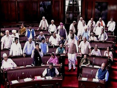 Oppn protests rock LS, Speaker carries on proceedings in din
