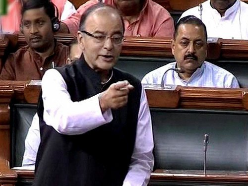 FM hits out at Sonia, Rahul; says Cong cant digest 2014 defeat