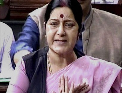 Sushma says ready for debate on any issue, Cong insists on PM's presence