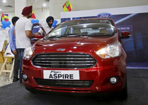 Ford launches Figo Aspire price starting at Rs 4.9 lakh