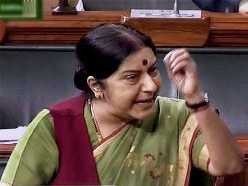 My husband not Lalit Modi's lawyer in passport case: Sushma