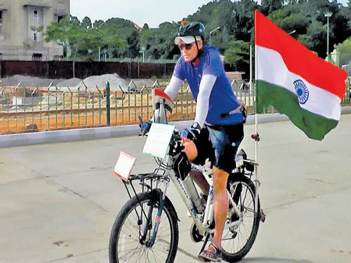 Scientist cycles across 13 states for cleanliness