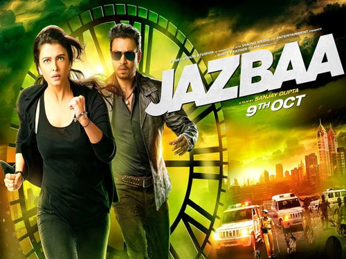 Aishwarya, Irrfan race against time in 'Jazbaa' new poster