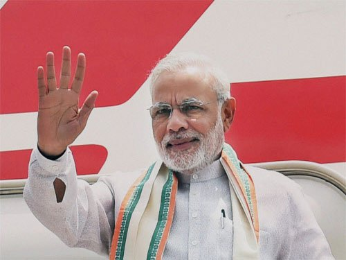 Modi arrives in UAE; to discuss terror, trade with top leaders