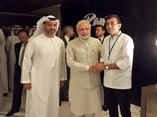 Sanjeev Kapoor's vegetarian spread for Modi in UAE