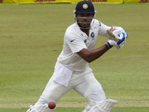 Relief for India as Vijay has a long bat
