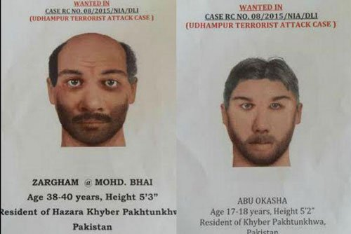 Two terror suspects held, one resembles sketch of accomplice of Naved