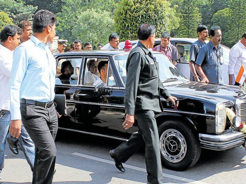Siddu takes a ride in Merc used by Urs
